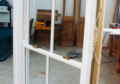 New traditional wooden sash windows
