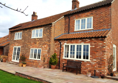 Timber windows and doors in a period cottage
